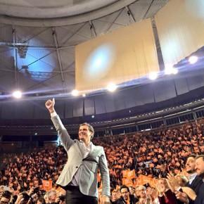 """Albert Rivera:""""Mientras algunos quieren que la gente se quede en casa, yo quiero que toda España inunde las urnas de votos naranjas"""""""
