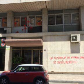 Medios que se han hecho eco del tercer ataque a la sede de Cs Lleida en un año