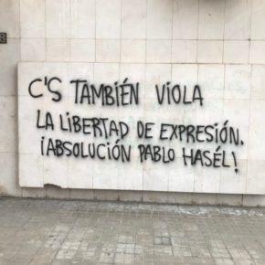 Ciudadanos denuncia un nuevo ataque con pintadas en su sede de Lleida y condena cualquier tipo de violencia y coacción