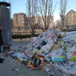 Ciudadanos Lleida solicita que se limpien las columnas de anuncios que llevan años acumulando carteles publicitarios